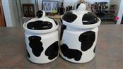 COW PRINT Miscellaneous Appliances COOKIE JARS (SET OF 2)